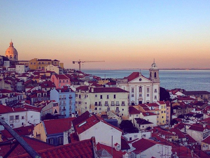 Viewpoint from Lisbon's oldest district, Alfama