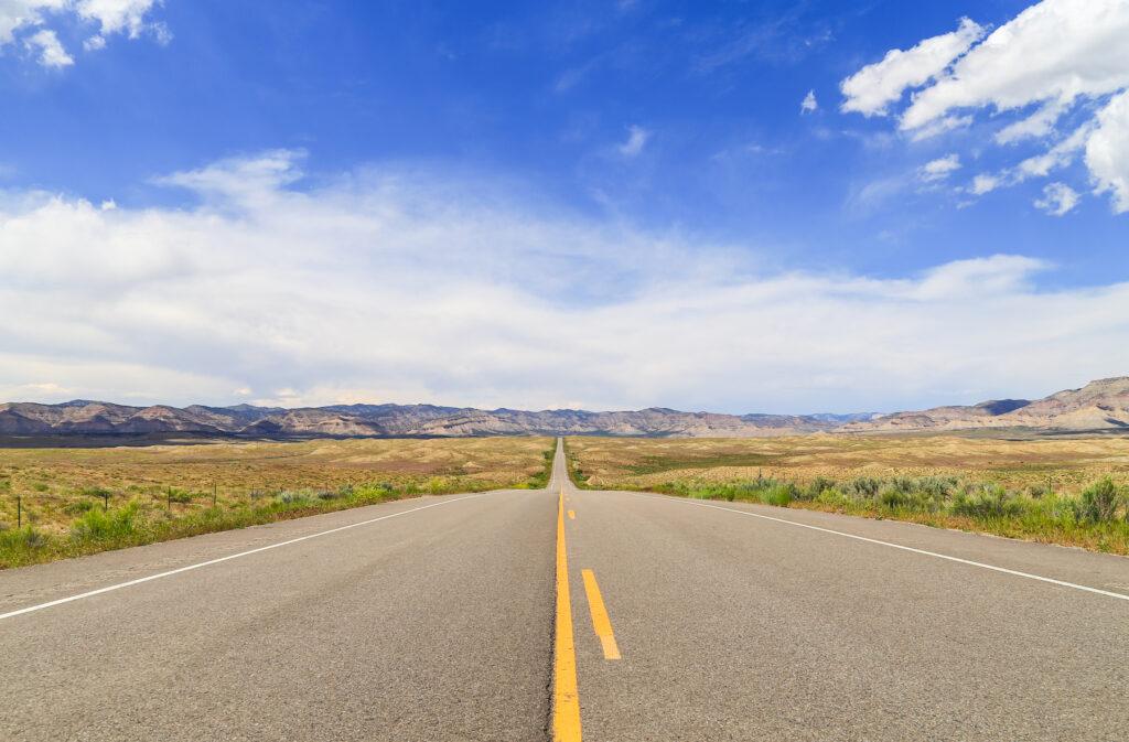 Views along Highway 139 in Colorado.