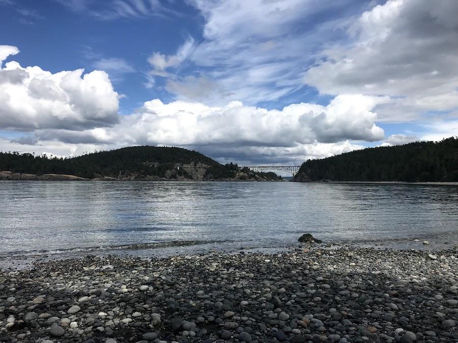 Views along the Deception Pass Bridge and Beach Trail.