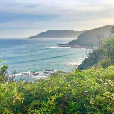 Views along the Great Ocean Road in Australia.