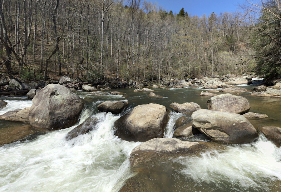 Views along the Green River Cove Trail in North Carolina.