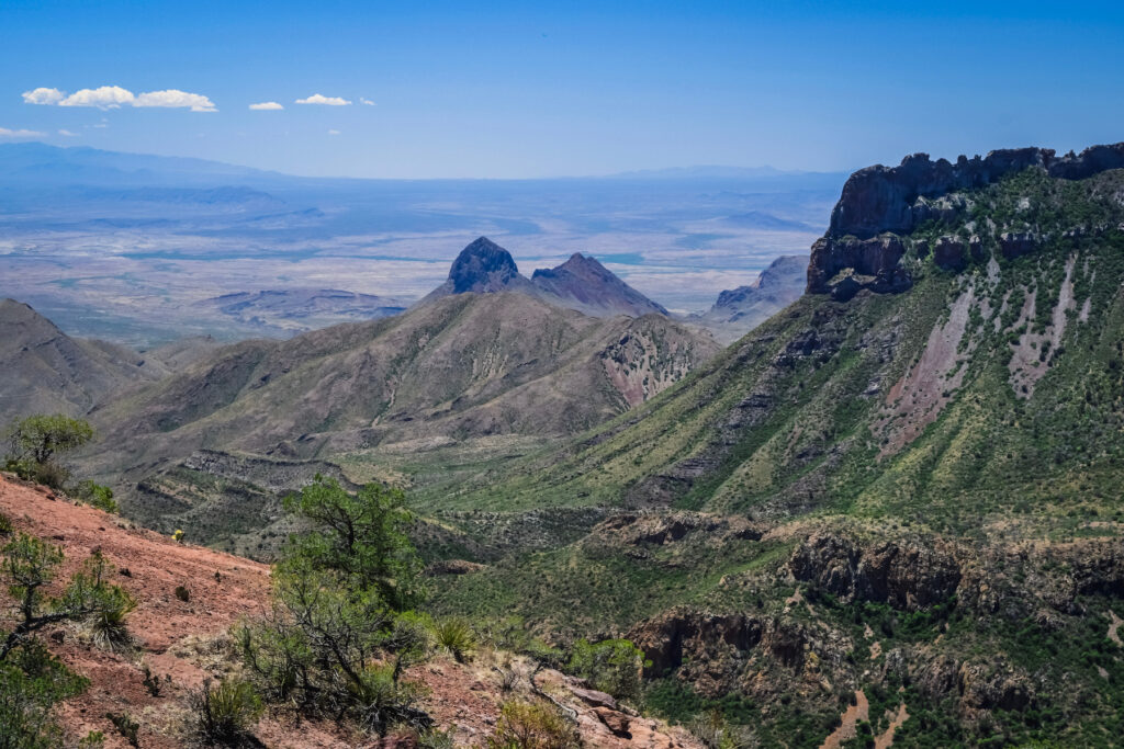 Views along the Lost Mine Trail in Big Bend National Park.