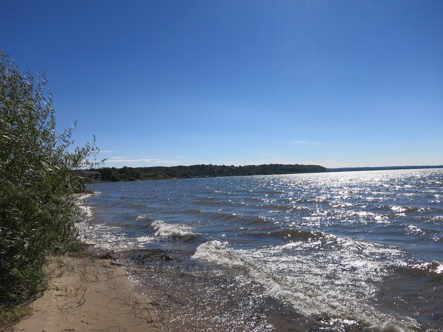 Views along the Muncie Lake Pathway in Michigan.