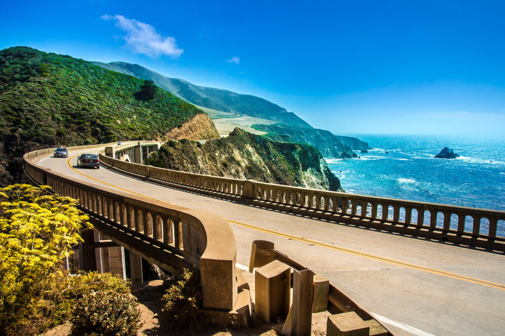 Views along the Pacific Coast Highway.