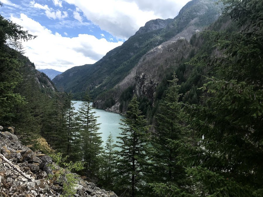 Views along the Ross Dam Trail in Washington's North Cascades.