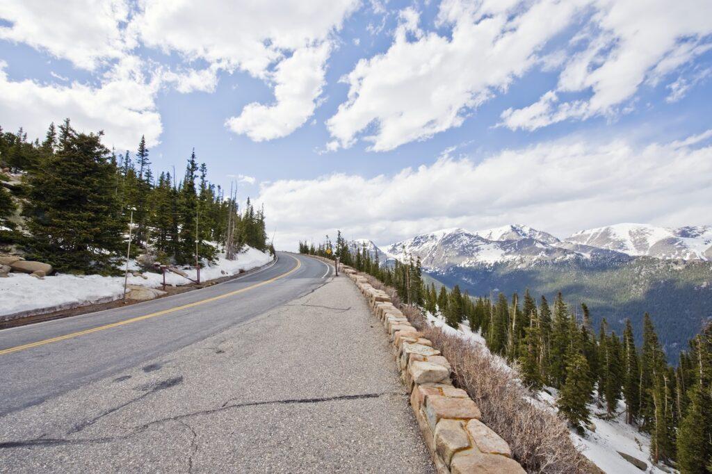 Views along Trail Ridge Road in Colorado.