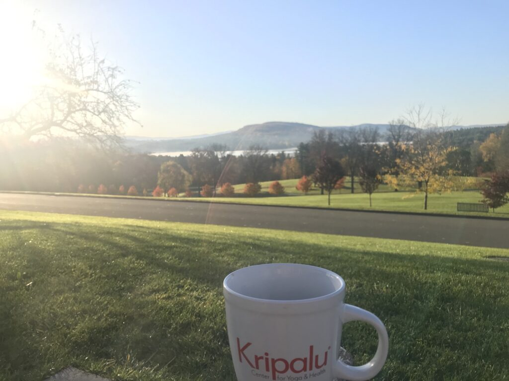 Views and coffe at Kripalu.