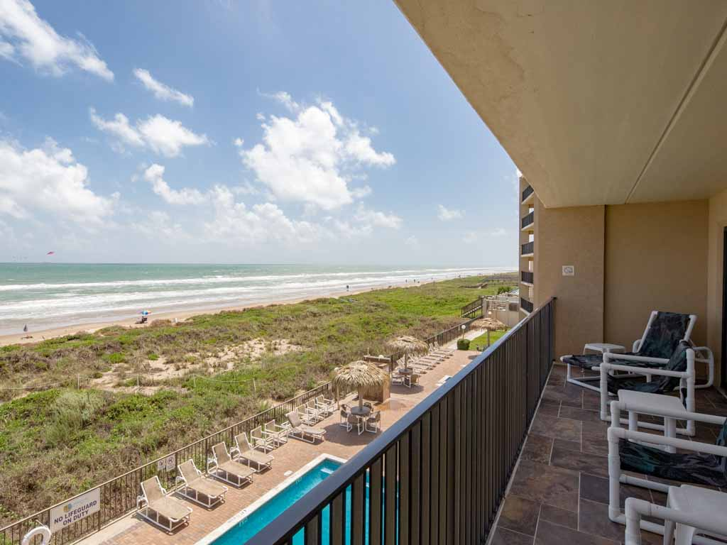 Views from a room at the Seabreeze Beach Resort.