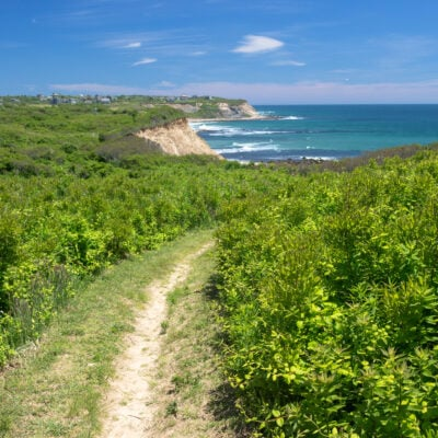 Views from a trail on Block Island in Rhode Island.