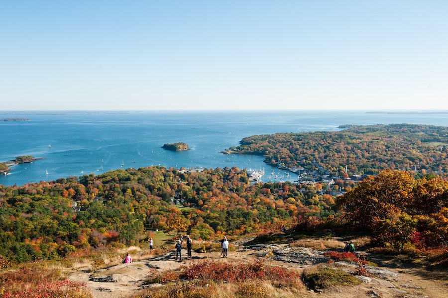 Views from Camden Hills State Park in Maine.