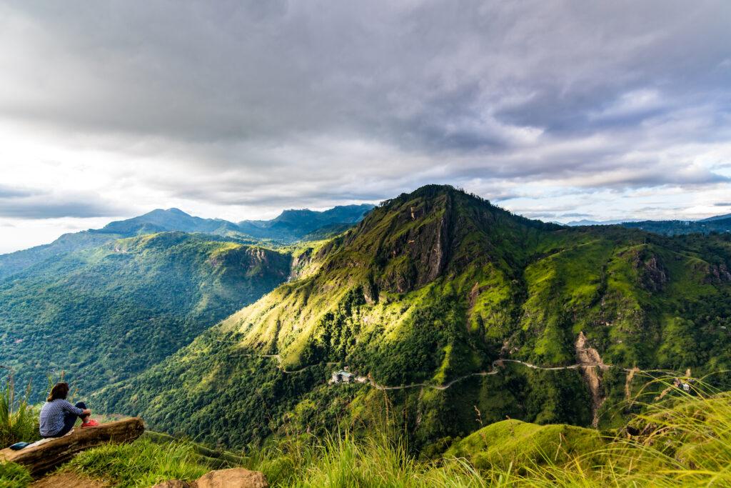Views from Little Adam's Peak near Ella, Sri Lanka.