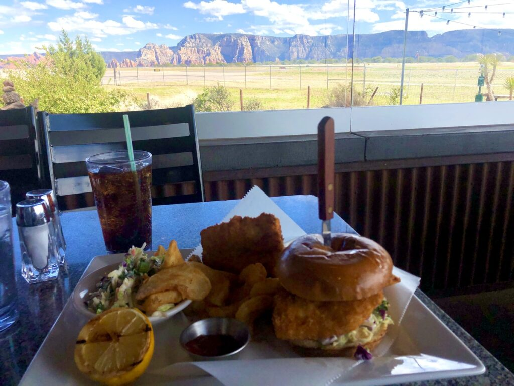 Views from Mesa Grill in Sedona.