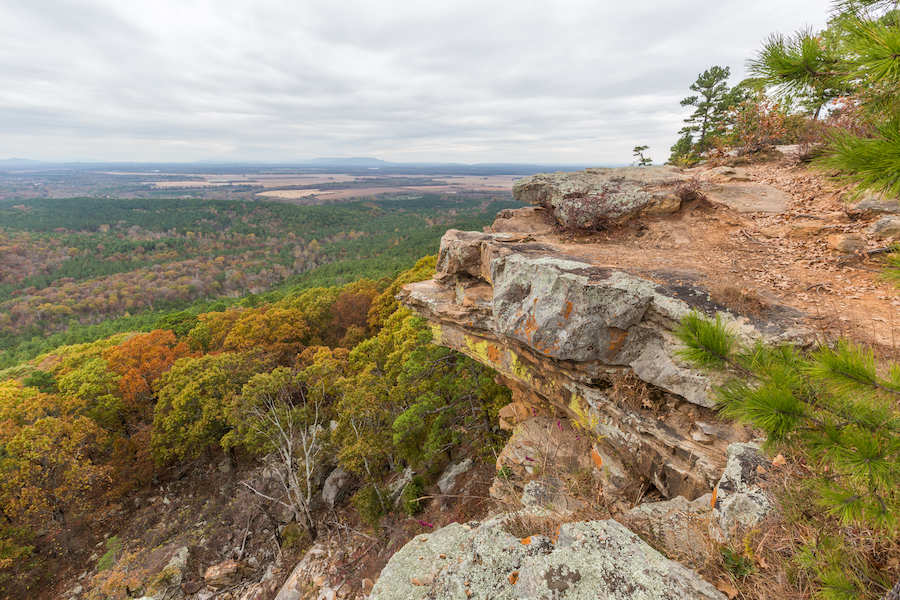 Views from Mount Nebo during autumn in Arkansas.