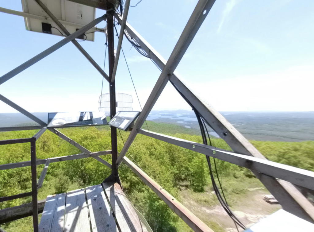 Views from Red Hill Fire Tower in New Hampshire.