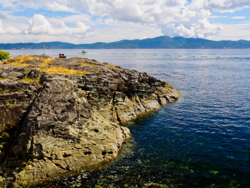 Views from Ruckle Provincial Park on Salt Spring Island.