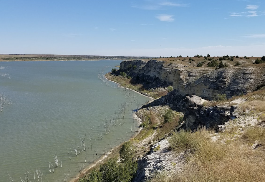Views from the Agave Ridge Loop in Cedar Bluff State Park.