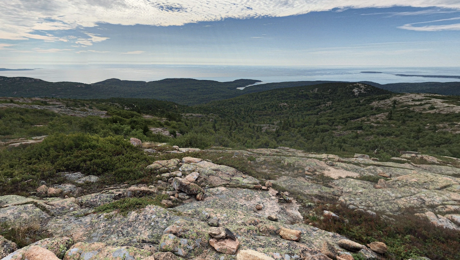 Views from the Cadillac Mountain South Ridge Trail.