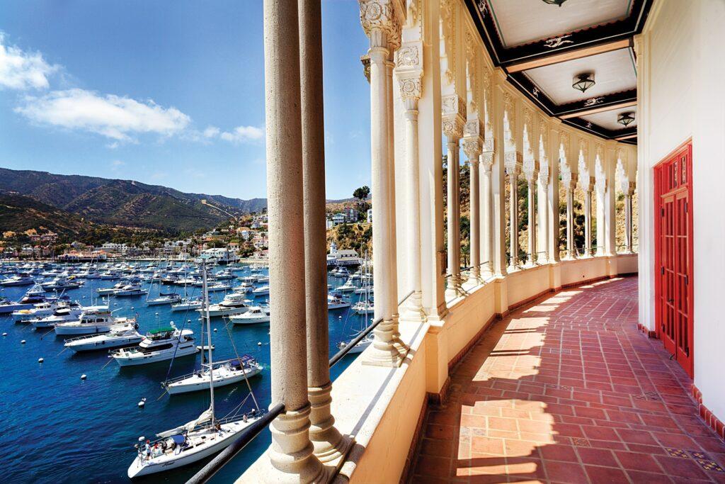 Views from the Catalina Island Casino.