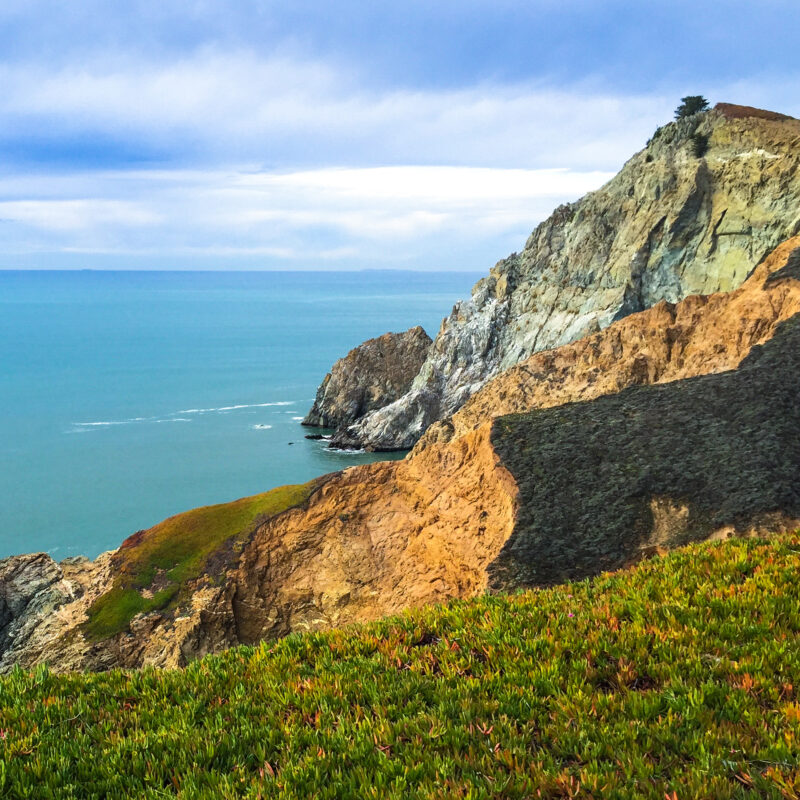 Views from the Devil's Slide Trail in Pacifica, California.