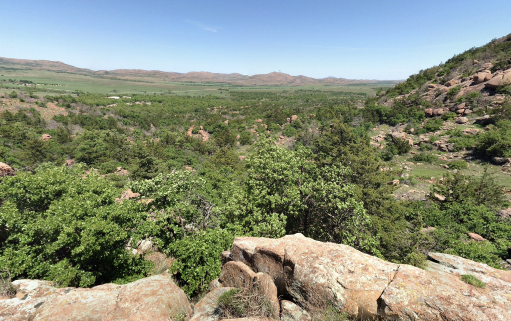 Views from the Elk Mountain Summit Trail in Oklahoma.