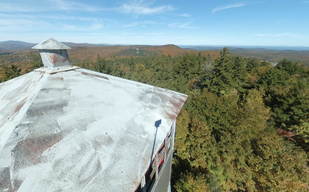 Views from the fire tower at the summit of Mount Olga.