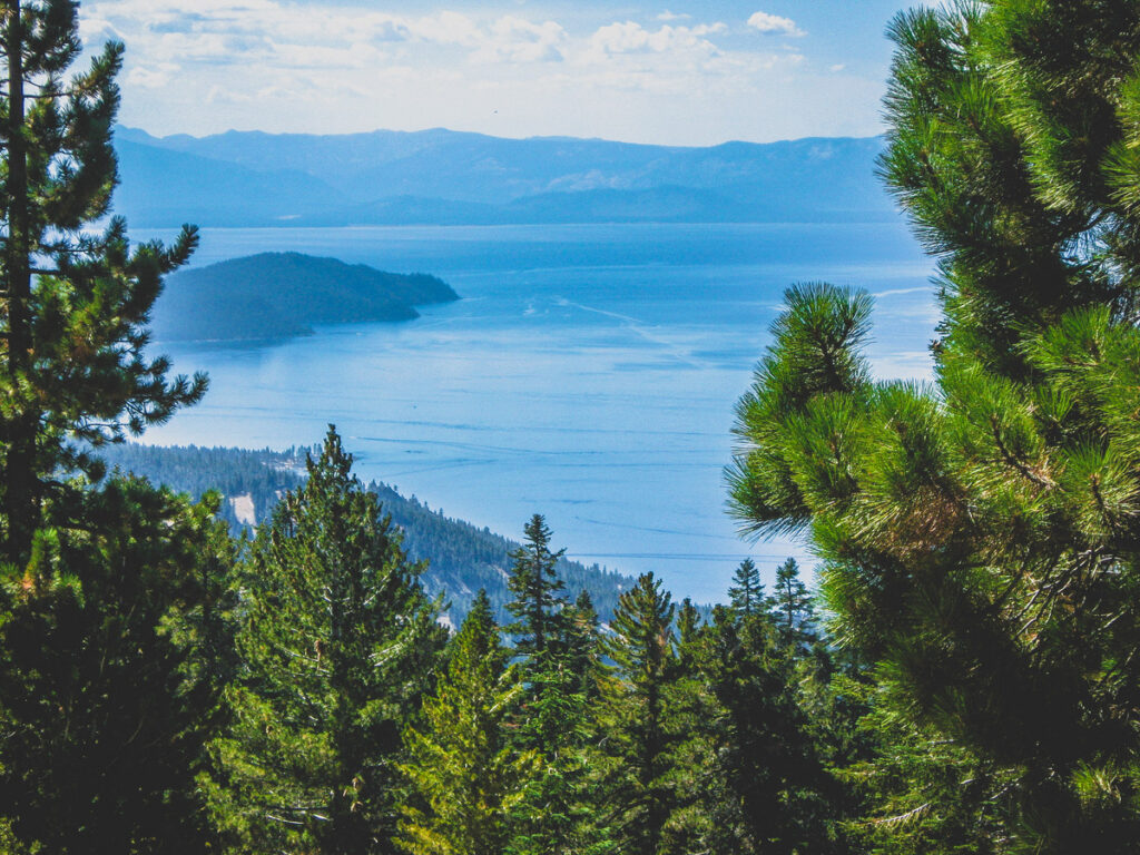 Views from the Flume Trail at Lake Tahoe.