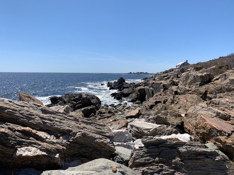 Views from the Giant's Stairs Trail in Harpswell, Maine.
