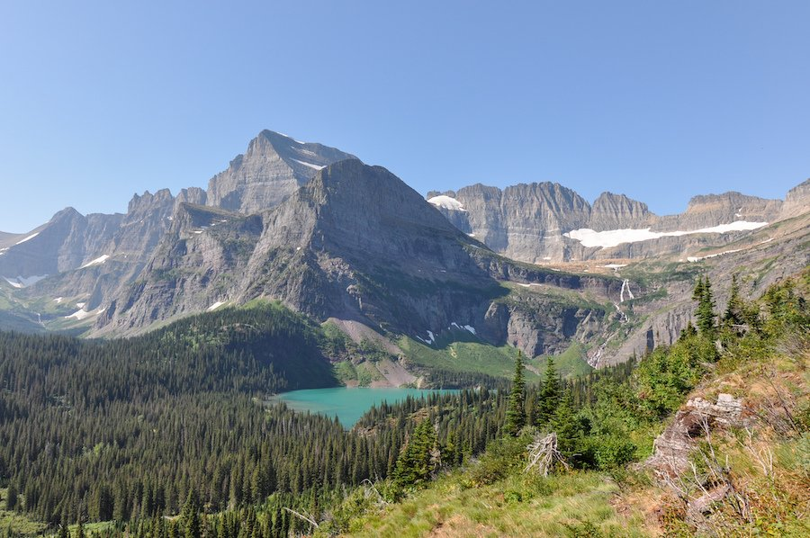 Views from the Grinnell Glacier Trail in Montana.