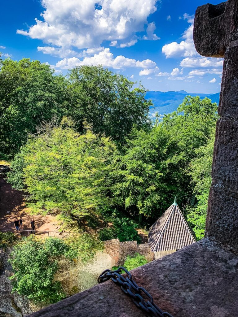 Views from the Haut-Koenigsbourg guard tower.