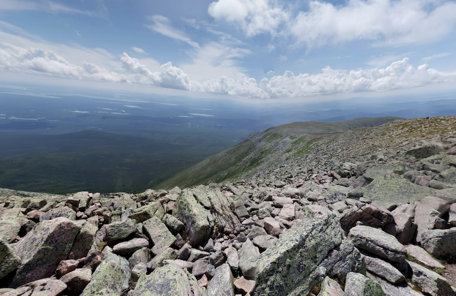 Views from the Knife Edge Trail on Mount Katahdin.