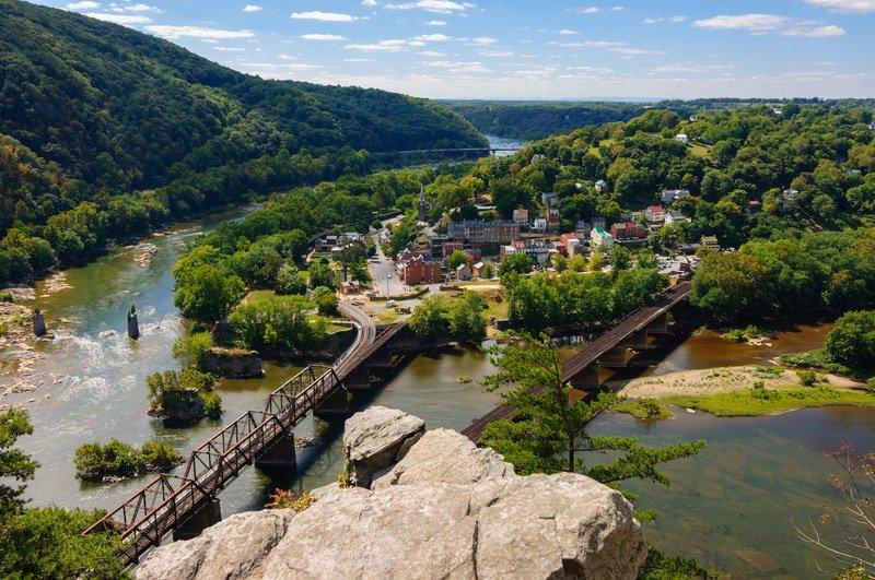 Views from the Maryland Heights Loop in West Virginia.