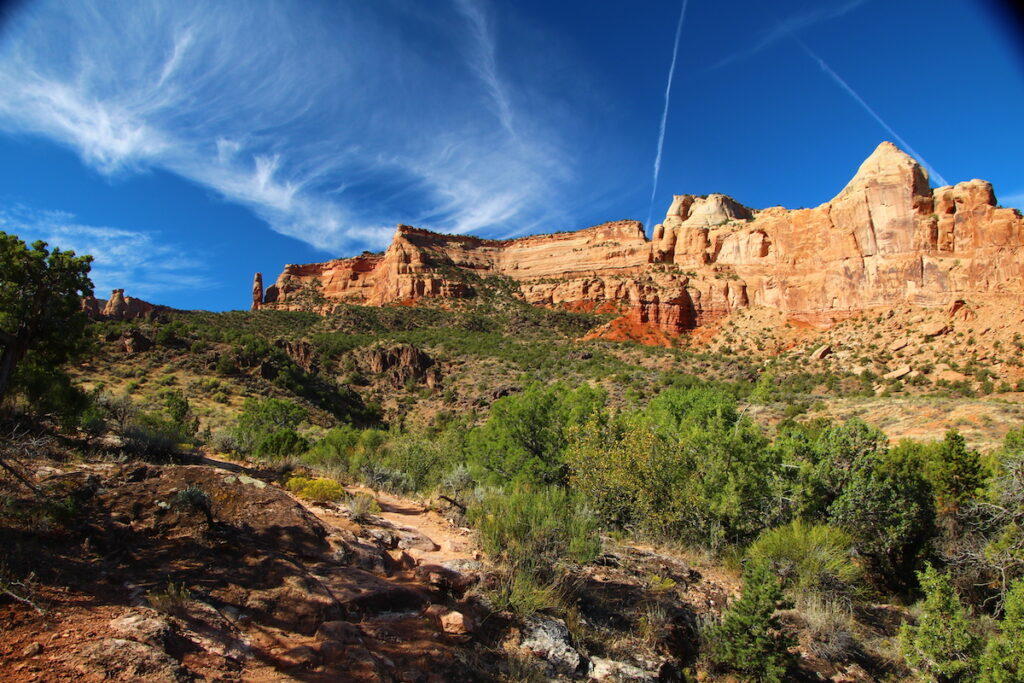Views from the Monument Canyon Trail in Colorado.