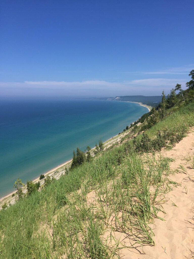 Views from the Old Baldy Interpretive Trail in Michigan.