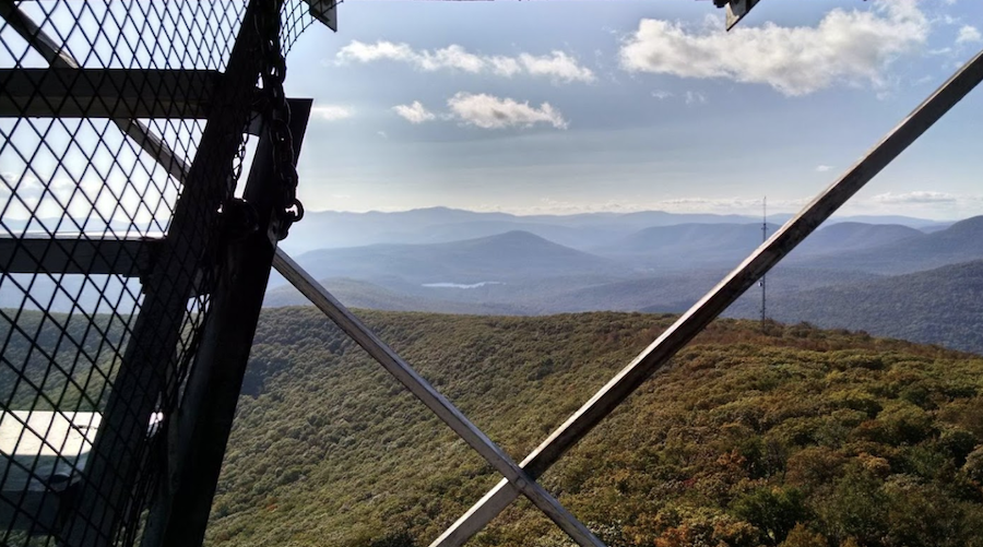 Views from the Overlook Mountain fire tower.