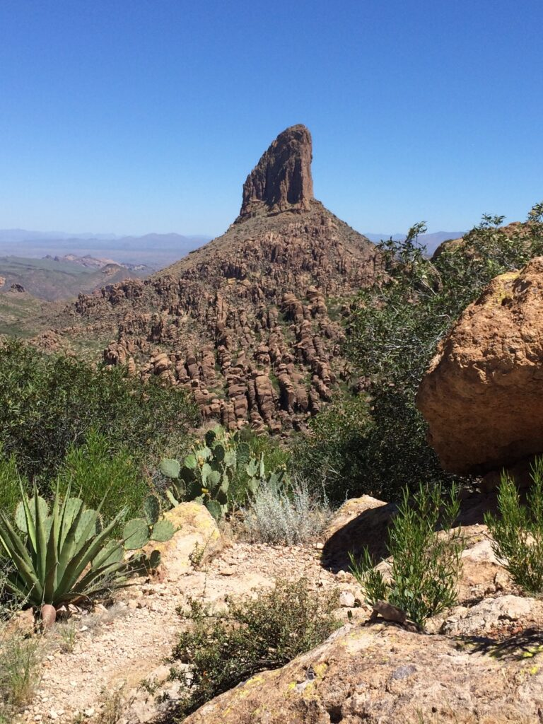 Views from the Peralta Trail in the Superstition Mountains.