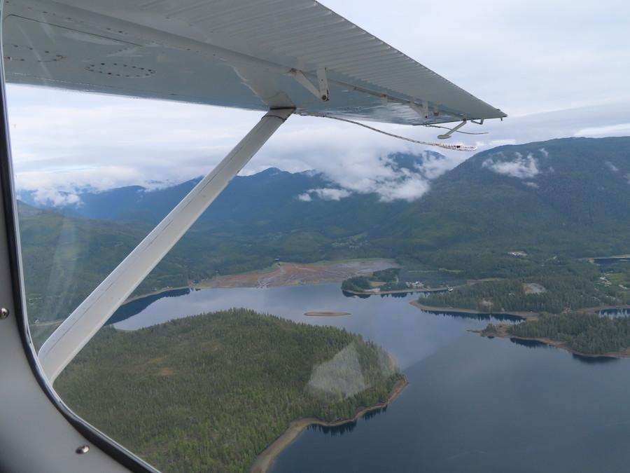 Views from the seaplane to Ketchikan, Alaska.