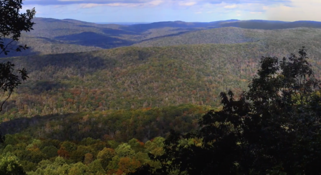 Views from the Sherwood Loop Trail in Sewanee, Tennessee.