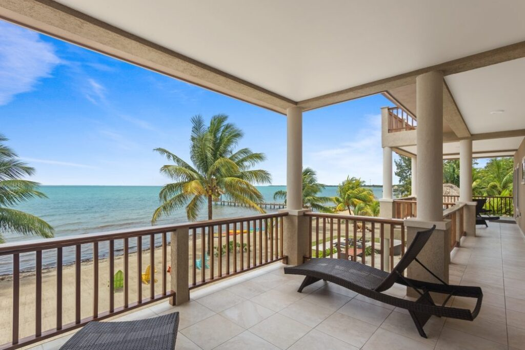 Views from the Sirenian Bay Resort in Belize.
