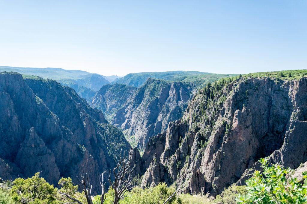 Views from the south rim of the Black Canyon.