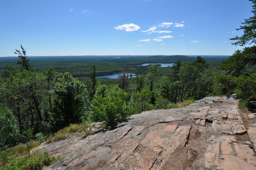 Views from the summit of Eagle Point in Grand Marais, Minnesota.
