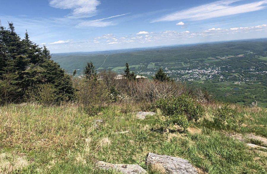 Views from the summit of Mount Greylock in Massachusetts.