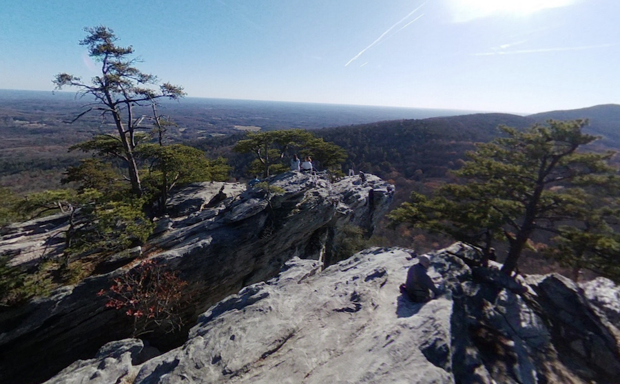 Views from the top of Hanging Rock in North Carolina.