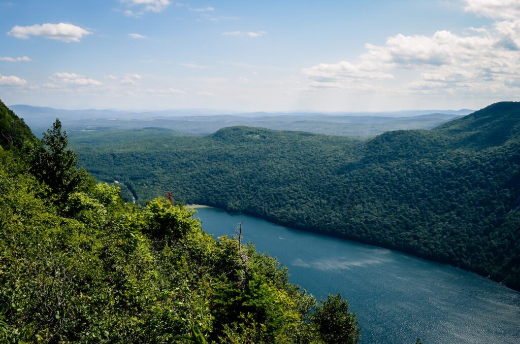 Views from the top of Mount Pisgah in Willoughby State Forest.