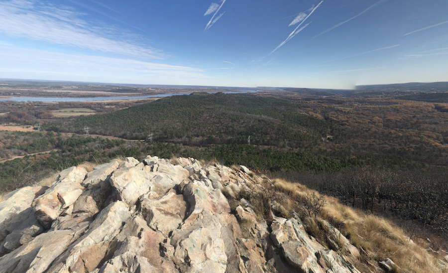 Views from the top of Pinnacle Mountain in Arkansas.