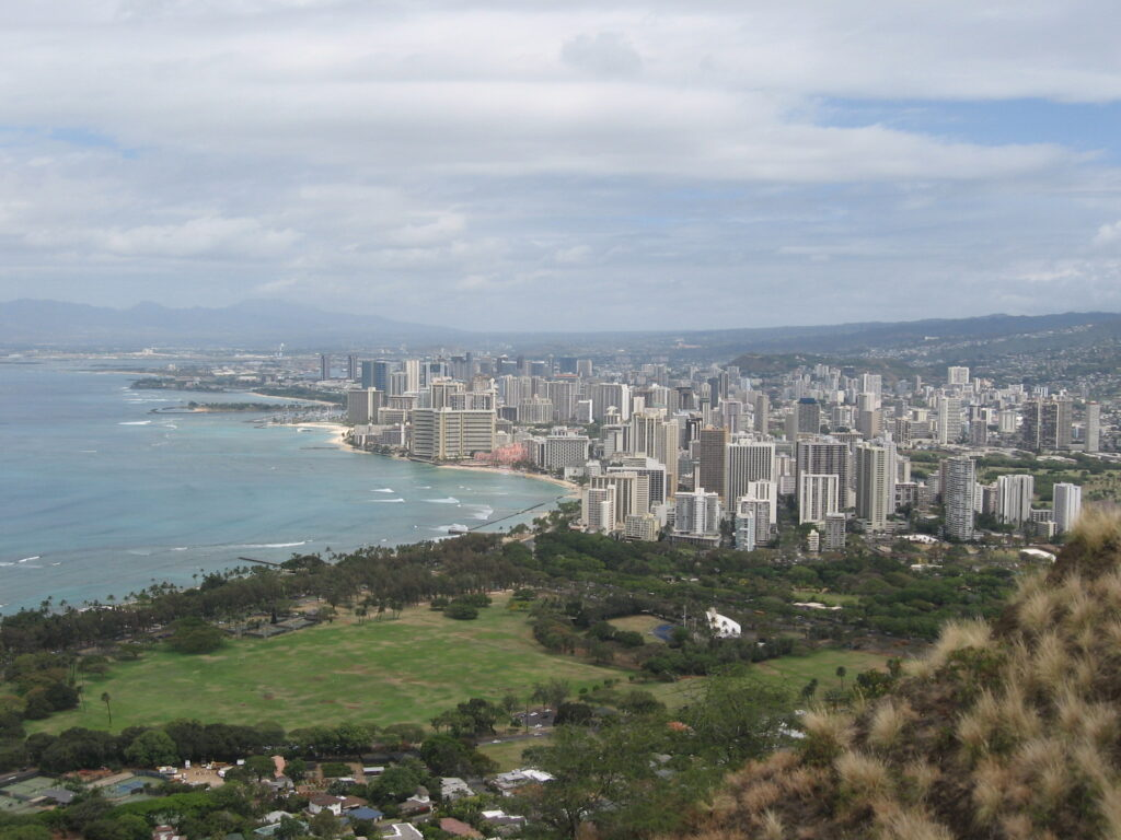 Views from the top of the Diamond Head Summit Trail.