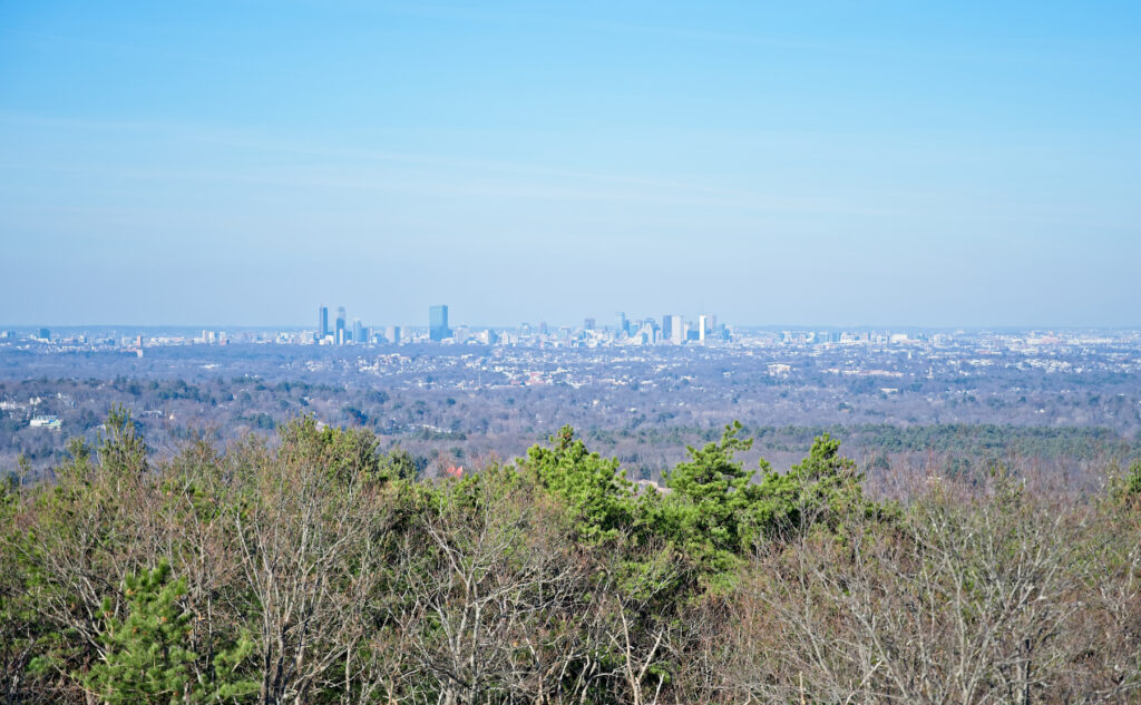 Views from the top of the Skyline Trail in the Blue Hills Reservation.