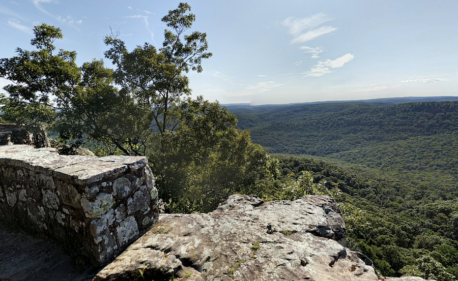 Views from the White Rim Rock Trail in Ozark National Forest.