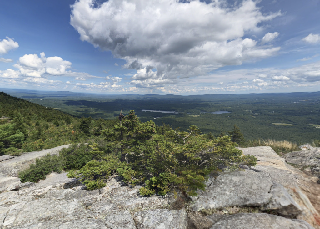 Views from White Dot Trail in Monadnock State Park.