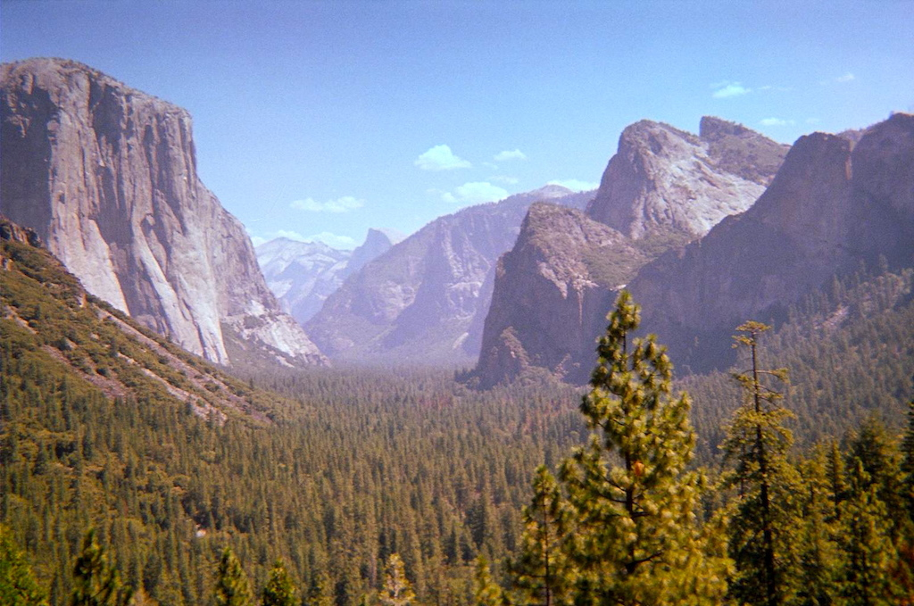 Views from Yosemite Falls Trail in Yosemite National Park.