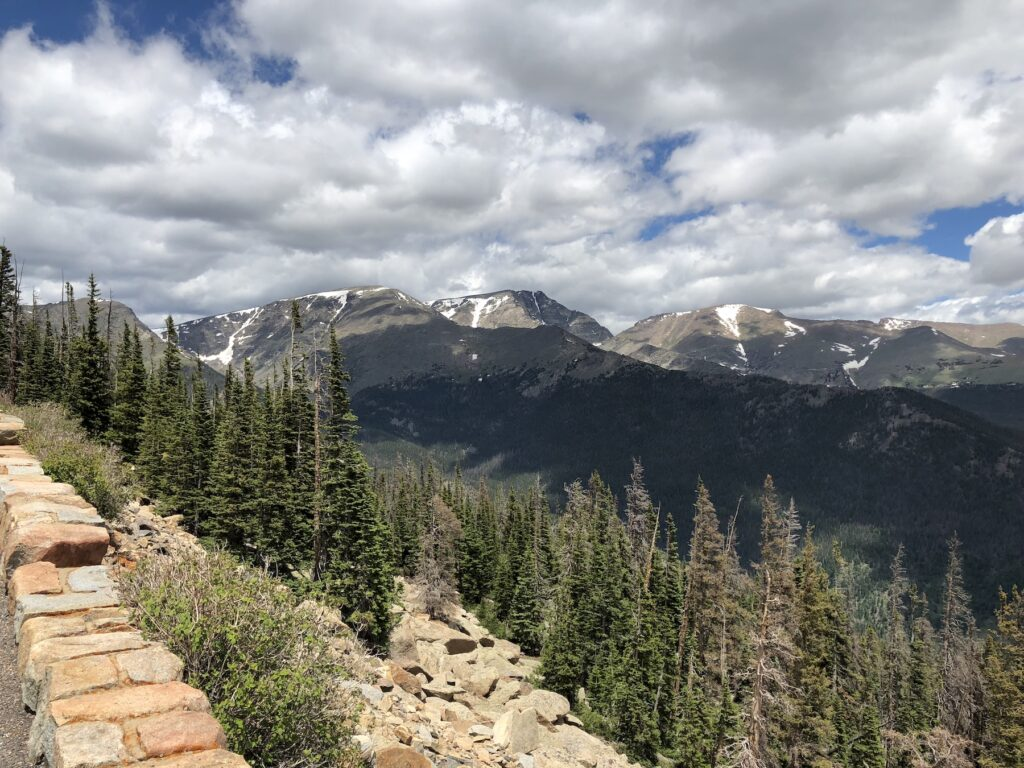 Views in Rocky Mountain National Park.